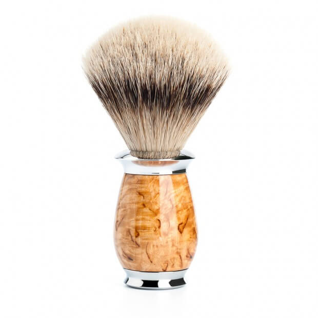 Shave brush silvertip birch