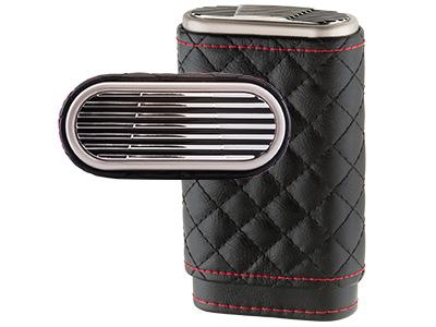 Xikar Envoy High Performance Cigar Case Black/Red Leather