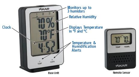 Xikar Puro Temp Hygrometre Wireless