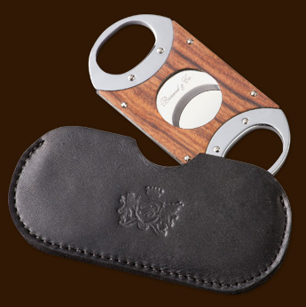 Brizard & Co. The Double Guillotine Sunrise Rosewood Cigar Cutter