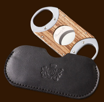 Guillotine zebrawood/pouch