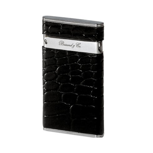 Brizard Sottile Lighter Black Crocodile