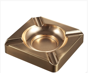 Visol Satin Gold Cigar Ashtray