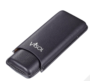 Visol Dakota Black 60 Ring Gauge Cigar Case