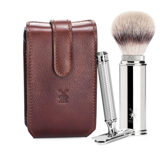 Muhle 4 Piece Travel Set Brown Leather
