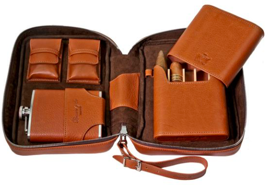 Brizard Havana Travel Humidor Dakota Tan Leather