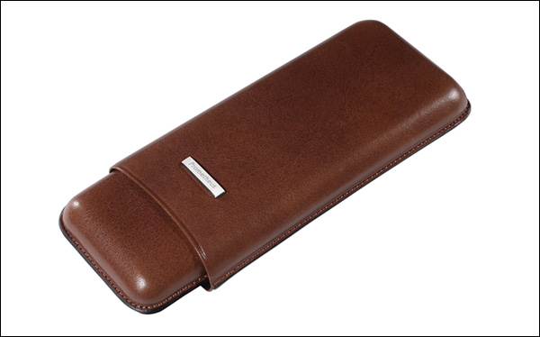 Cigar case 3 churchill brown