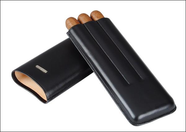 Cigar case 3 churchill black
