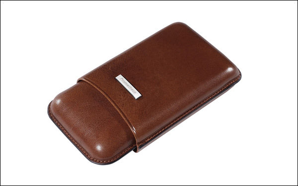 Cigar case 3 robusto brown