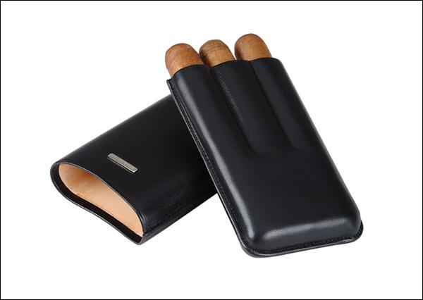 Cigar case 3 robusto black