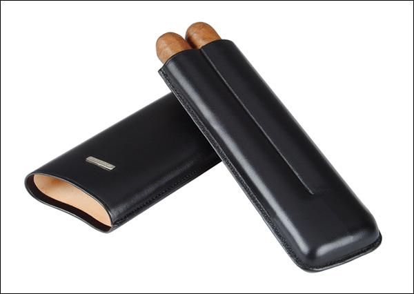 Cigar case 2 churchill black