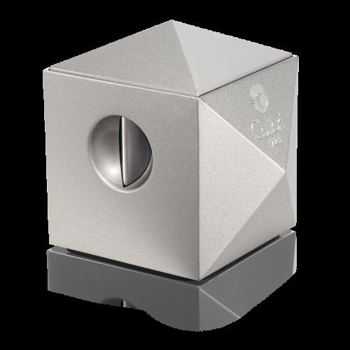 Colibri Quasar Silver Two-in-One Desktop Cigar Cutter