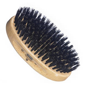 Men's oval black bristle