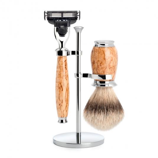 Shaveset 3 pcs m3 st birchburl
