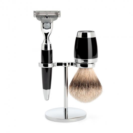 Muhle STYLO Shave Set M3 Silver Tip Badger