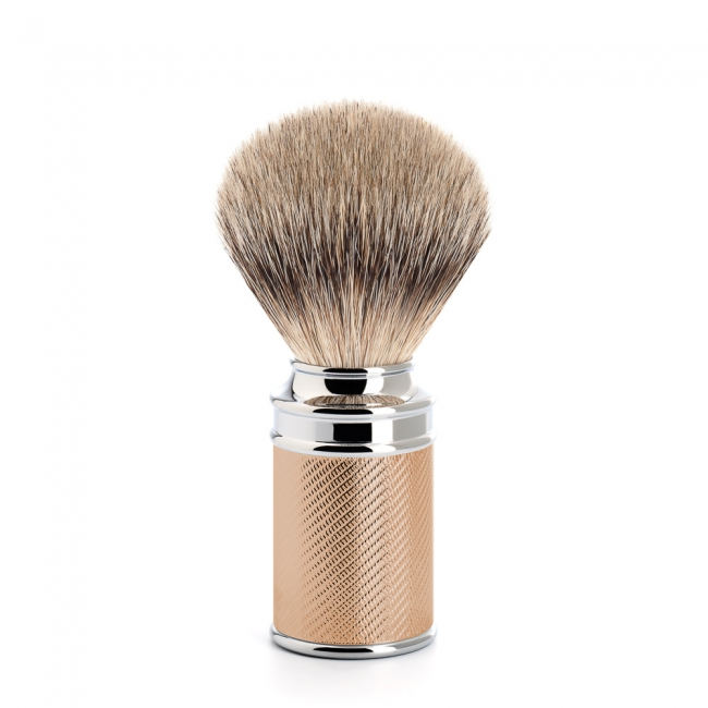 Muhle TRADITIONAL Shave Brush Silver Tip Rose Gold