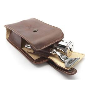 Razor Travel Case Brown Leather