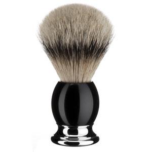 "Shavebrush Silvertip Black Resin  L.  23mm / 0.90"""