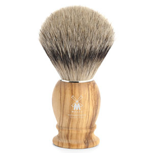 Shave Brush Silvertip Olive Wood  L. 23mm / 0.90""
