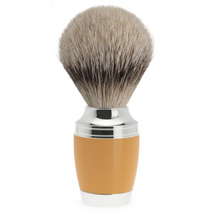 Muhle Shave Brush Silver Tip Stylo Series Orange Resin Handle