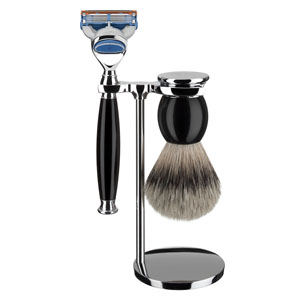 Shave Set 3 Pieces Fusion Black Resin