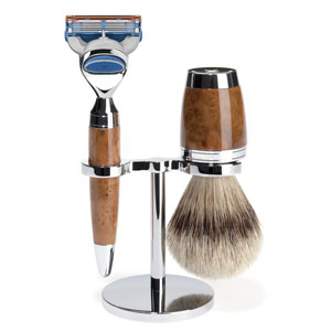 Shave Set 3 Pieces Fusion Thuya Wood