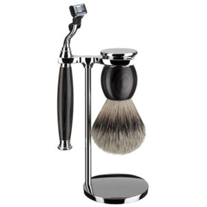 Shave Set 3 Pieces Mach3 Horn and Chrome