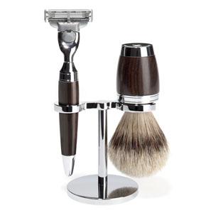 Shave Set 3 Pieces Mach3 Silvertip Accessories