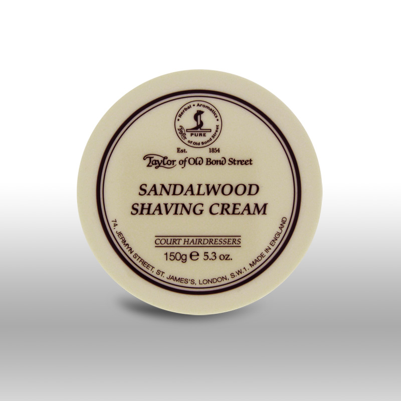 Taylor Of Old Bond Street Shaving Cream Sandalwood 150g
