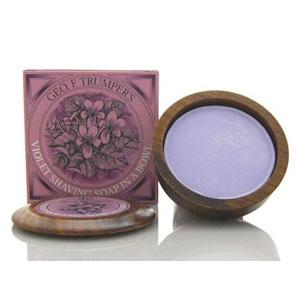 Violet Shaving Soap in a Bowl
