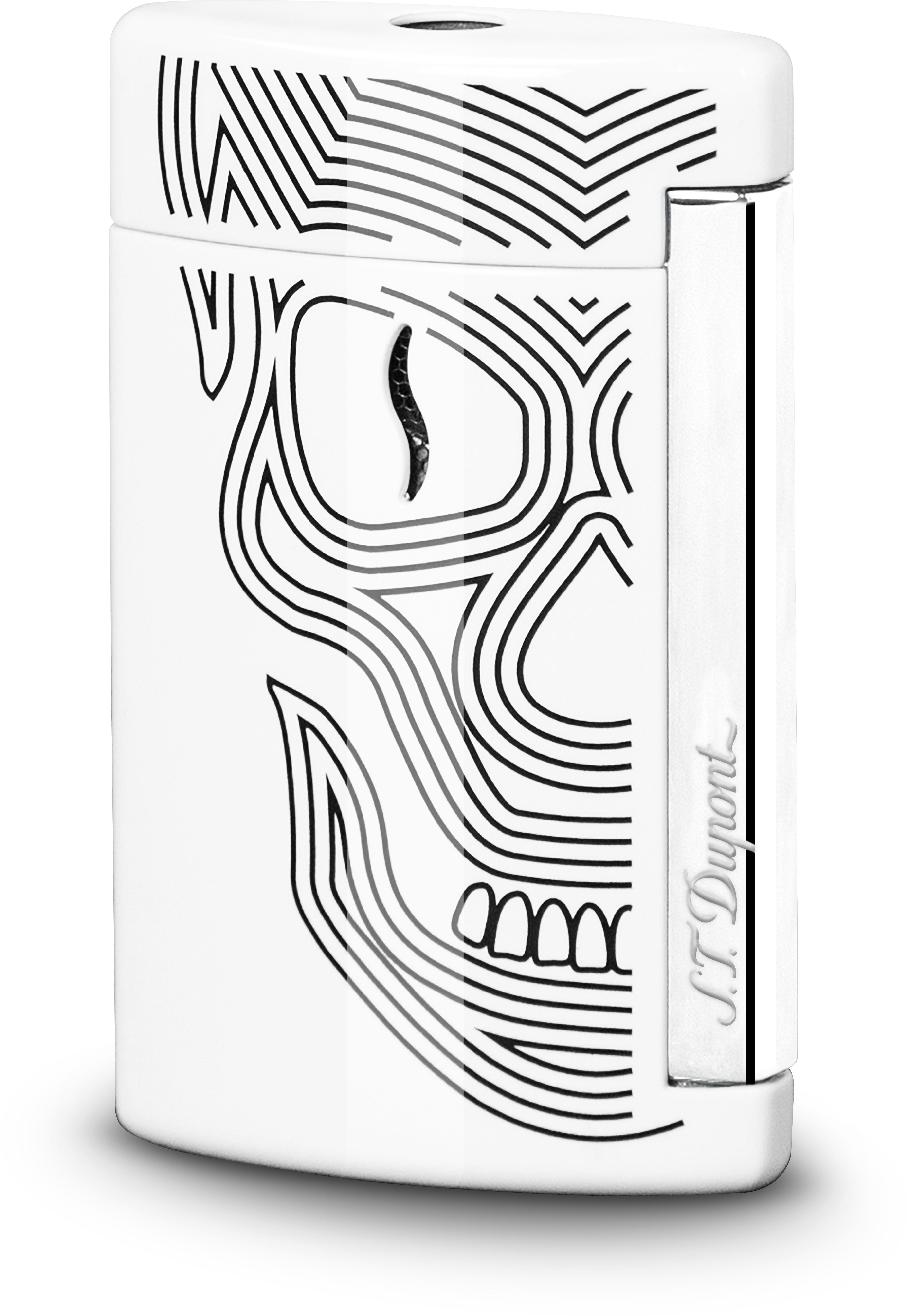 S.T. Dupont Minijet White Skulls