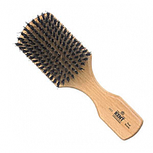 Men's blk bristle handle brush