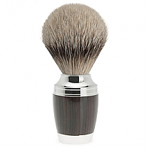 Muhle Shave Brush Silver Tip Stylo Series African Blackwood Handle