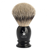 "Shavebrush Silvertip Black  M  21mm /0.83"" Resin"