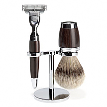 Shave Set 3 Pieces Mach3 Silvertip Accessories