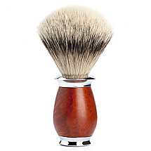 Muhle Shave Brush Silver Tip Badger Briar Wood Handle
