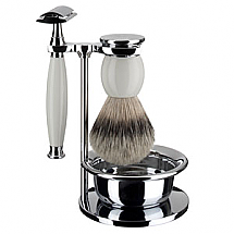 Shave Set 4 Pieces Silvertip White