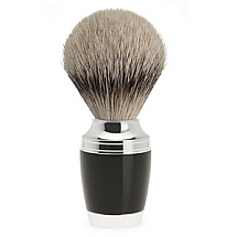 Muhle Shave Brush Silver Tip Stylo Series Black Resin Handle