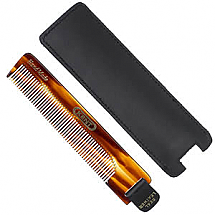 Comb w/leather pull &case