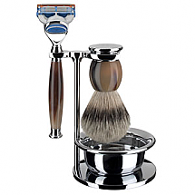 Shave Set 4 Pieces Fusion Horn
