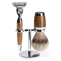 Shave Set 3 Pieces Mach3 Silver-tip Thuja