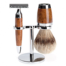 Shave Set 3 Pieces Safety Razor Silver-tip