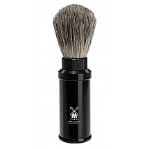 Shave Brush Travel Black Alum Synthetic
