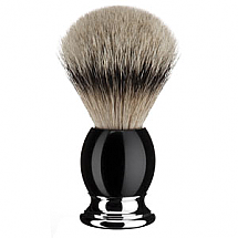 Shavebrush Silvertip Black Resin  L.  23mm / 0.90""