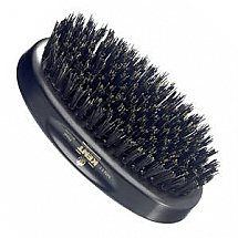 Kent Brush Men's Black Bristle/Dark Wood