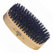 Kent Brush Ment's Rectangular Black Bristle Brush