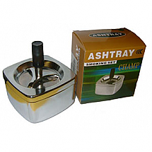 ASHTRAY SPINNING MATTE SILVER