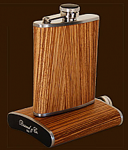 Brizard 6oz Zebrawood Flask