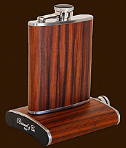 Brizard 6oz Rosewood Flask