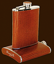 Brizard 6oz Lizard Havana Flask
